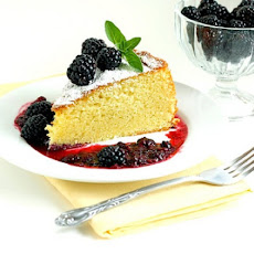 Almond-Lemon Torte With Fresh Strawberry Puree Recipe — Dishmaps