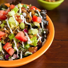 Layered Raw Taco Salad for Two