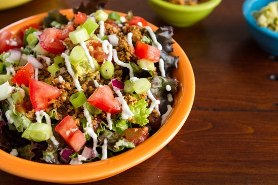 Layered Raw Taco Salad for Two Recipe | Yummly