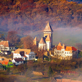plaiuri de poveste by Nicu Hoandra - City,  Street & Park  Historic Districts ( church, fog, autumn, colours )
