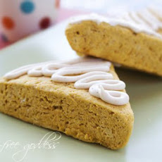 Gluten-Free Pumpkin Scones with Maple Nutmeg Icing
