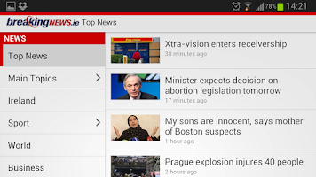 Screenshot of BreakingNews.ie