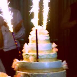 Wedding cake by Livia Copaceanu - Wedding Other ( cake, wedding, beautiful, fireworks, pink )
