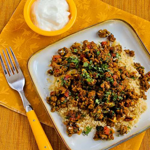 Middle Eastern Spicy Ground Beef with Baharat Seasoning, Mint, and Cilantro