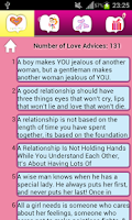 Screenshot of Love Advice Love Fact