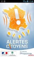 Screenshot of Alertes Citoyens