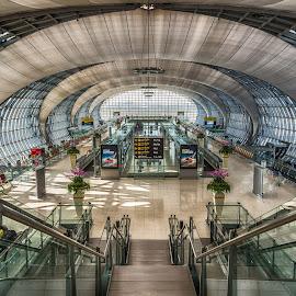 Suvarnabhumi Airport, Bangkok, Thailand by Nick M - Buildings & Architecture Other Interior ( bangkok, interior, airport, terminal, suvarnabhumi, thailand )