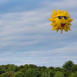 Sunshine on a Cloudy Day by Blaine Linton - Transportation Other ( hot air balloon, sky, hot, air, sunshine, balloon, sun )