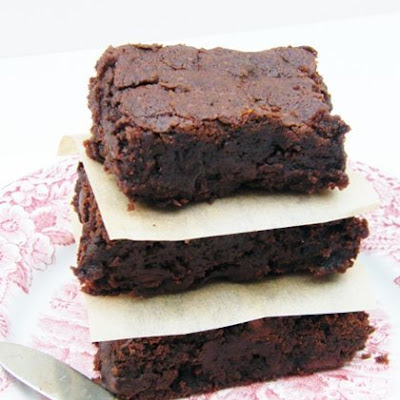 Fudgey Chocolate and Sticky Prune Brownies (vegan)
