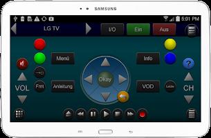 Screenshot of ZappIR Universal IR Remote
