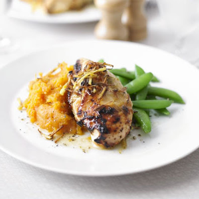 Ginger & Lime Chicken With Sweet Potato Mash