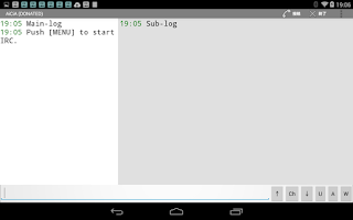 Screenshot of AiCiA - IRC Client: DONATE ver