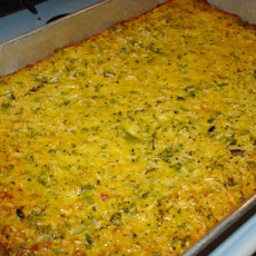 Low-Fat Broccoli, Rice And Cheese Casserole