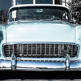 1955 Hot Rod by John  Bucy - Transportation Automobiles ( car, old, grill, 1955, chrome, front, hot rod, custom )
