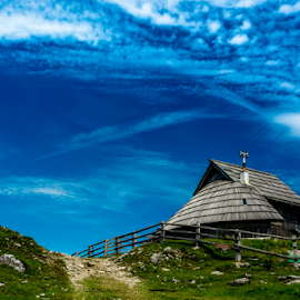 Velika Planina by Srečko Prša - Buildings & Architecture Homes ( mountains, mountain, sky, cottage, relaxation, places, relaxing, landscape,  )