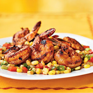 Three-Chile-Dusted Shrimp with Quick Corn Relish