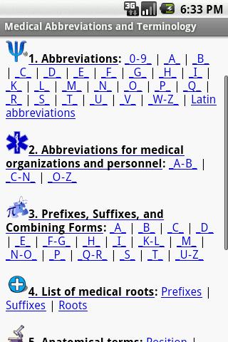 Medical Abbreviations and Term