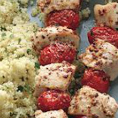 Rosemary Chicken Kebabs and Lemony Couscous