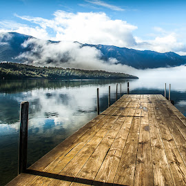 Nelson Lake National Park, NZ by IGCreative Image - Novices Only Landscapes ( reflection, south island, lakes, cloud, pier, nelson )
