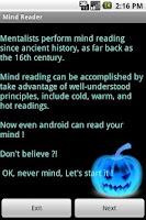 Screenshot of Mind Reader