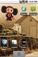 Screenshot of Cheburashka Clock