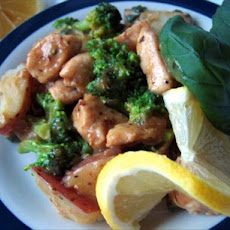 Veggie-Chicken Toss With Lemon Herb Sauce