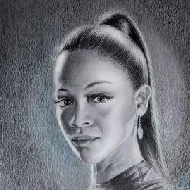 Zoe Saldana as Gamora by Alfonso Rahardja - Drawing All Drawing