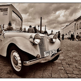 Aero 50 by Martin Mourek - Transportation Automobiles ( old, bright, automobile, little, yellow, rusty, transportation, historic, sky, veteran, metal, family, care, industry, hood, isolated, symbol, white, paint, tire, window, auto, oldtimer, revival, antique, small, car, wheel, chrome, vehicle, retro, road, space, style, 1960s, path, rust, classic, vintage, wreck, front, past, steel, radiator, history, blue, background, brown, historical, design )