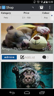 Admire Mobile eCommerce - screenshot