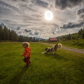 Best friends by Stanislav Horacek - Babies & Children Children Candids ( kids playing in the summer )
