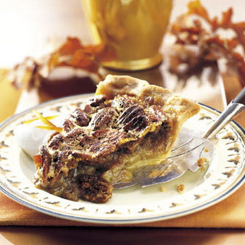 Bourbon-Orange Pecan Pie with Bourbon Cream