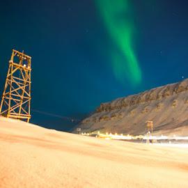 Svalbard by Sverre Sebjørnsen - Landscapes Weather ( #svalbard #aurora )