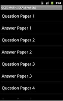 Screenshot of MATHEMATICS EXAM PAPERS