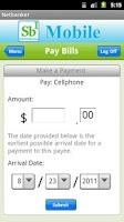 Screenshot of Sb1's NetBanker App