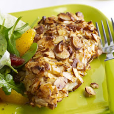 Almond Orange Crusted Chicken with Fennel Arugula Salad