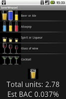 Screenshot of Alcohol unit calculator free