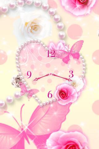 Heart of Rose clock