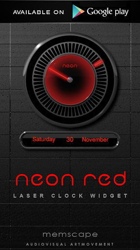 Poweramp skin Neon Red - screenshot