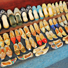 Oriental Slippers by Tamsin Carlisle - Artistic Objects Clothing & Accessories ( shoes, slippers, middle eastern, souq, market, oriental, dubai, deira, display,  )
