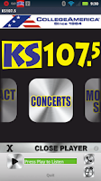 Screenshot of KS107.5 -Today's Hottest Music