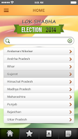 Screenshot of India Lok Sabha Election 2014