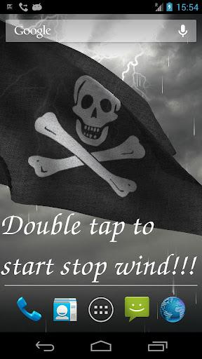 3D Pirate Flag LWP +