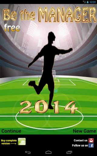 Be the Manager 2014 (Football) - screenshot