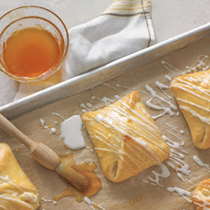 Sweet Cheese Pastries with Apricot Glaze