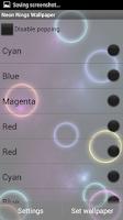 Screenshot of Neon Rings Live Wallpaper