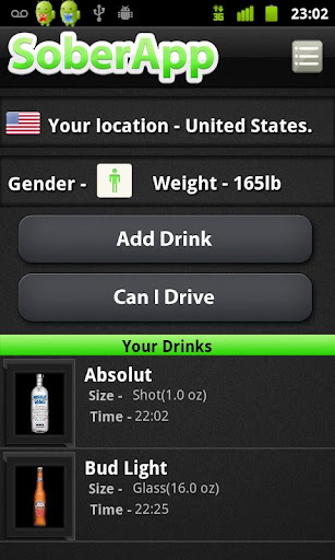 SoberApp - Alcohol Calculator