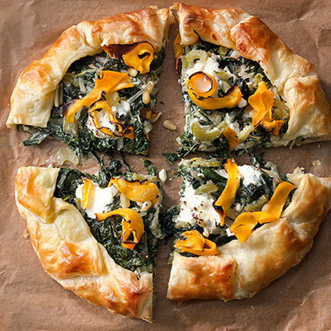Corsican Greens Pie with Butternut Squash and Three Cheeses Recipe ...