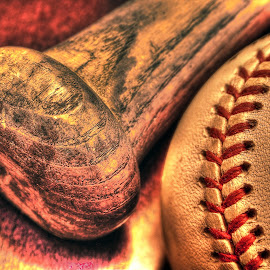 Play Ball! by Elk Baiter - Sports & Fitness Baseball ( rawling, ball, wooden, baseball, bat, stitches )