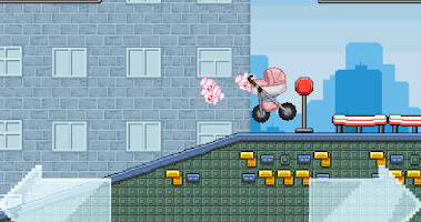 Screenshot of Watch out the baby - hill game