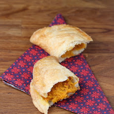 Savory sweet potato turnovers